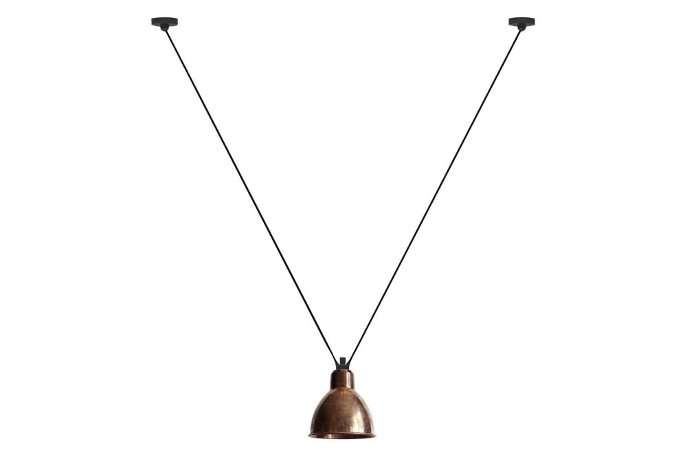 Les Acrobates De Gras 323 Round Shade Pendant Light by DCW éditions