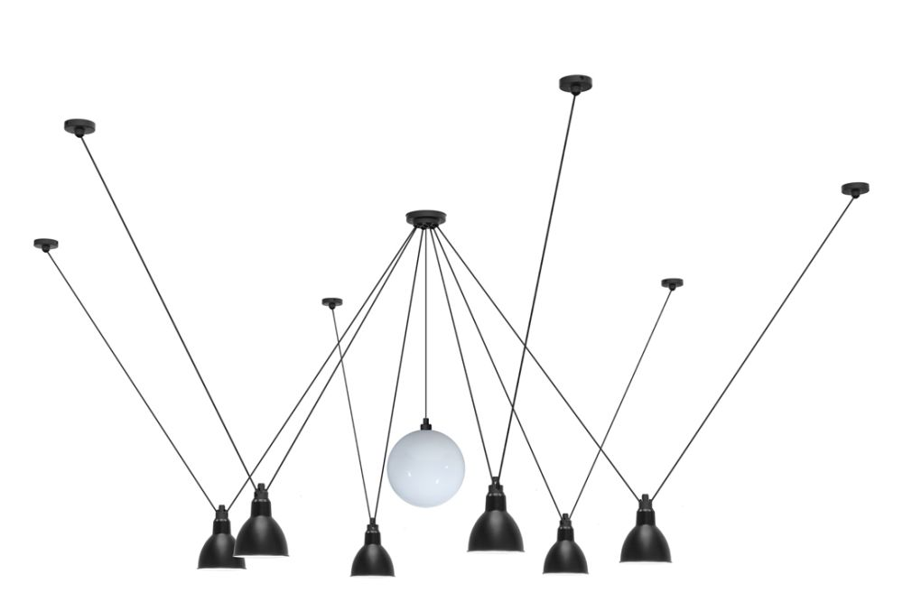 Black Shade,DCW éditions,Pendant Lights,ceiling fixture,lighting,line
