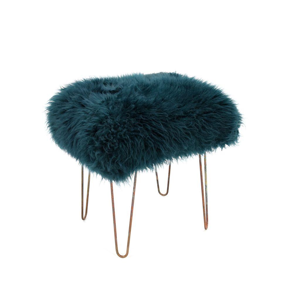 Aubergine,Baa Stool,Occasional Chairs,fur,headgear,stool,turquoise