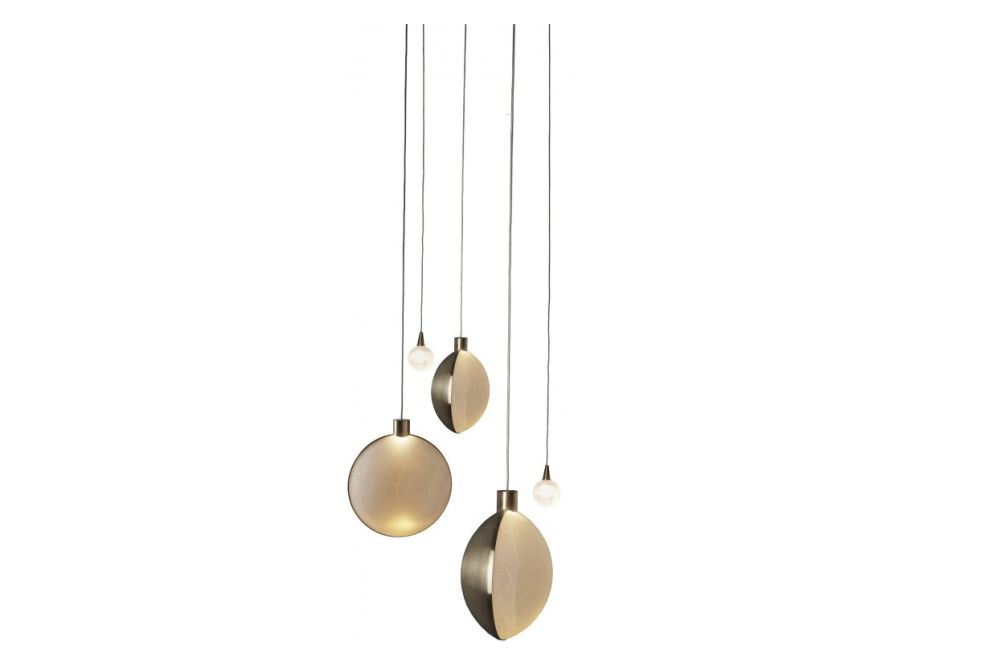 Pendant Light 3 Lunes and 3 Satellites by DCW éditions