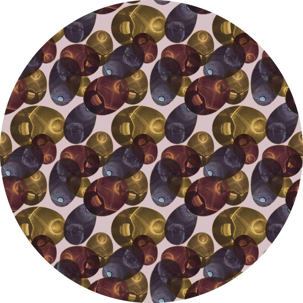 Spring, Ø 250cm, Polyamide,Moooi Carpets,Rugs,brown,design,pattern