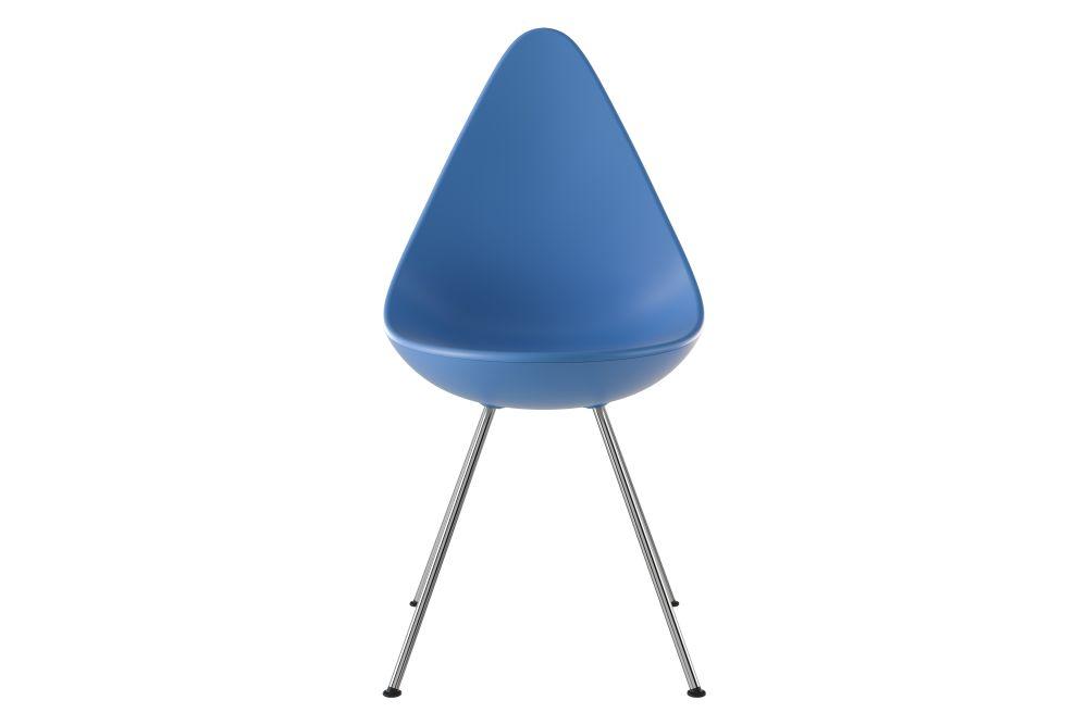 Drop White, Chromed Steel,Fritz Hansen,Seating,blue,chair,cobalt blue,electric blue