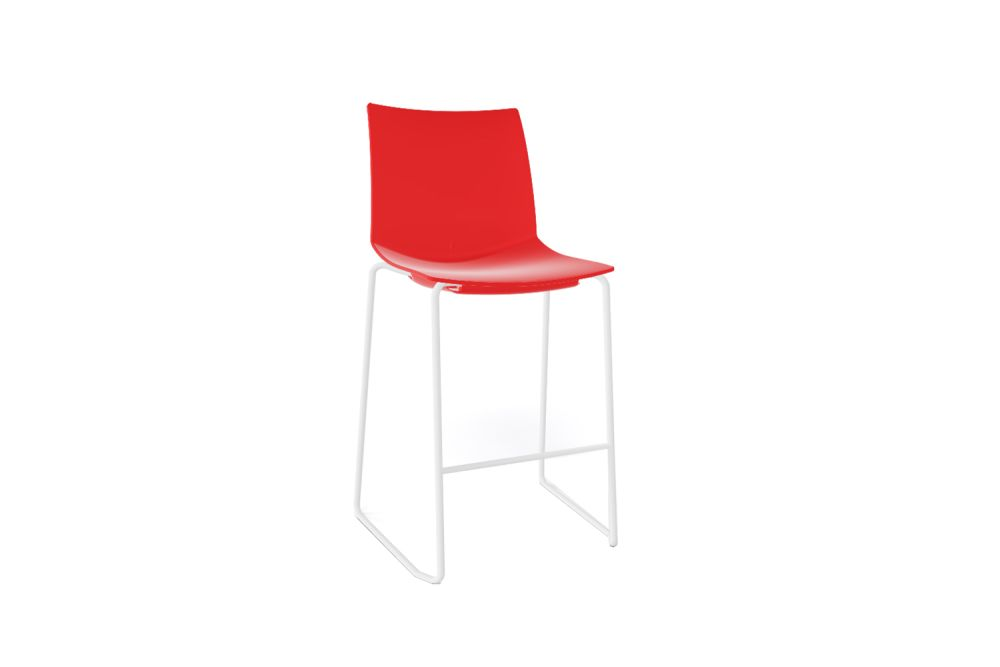 00 White, Chromed Metal,Gaber,Stools,chair,furniture,red