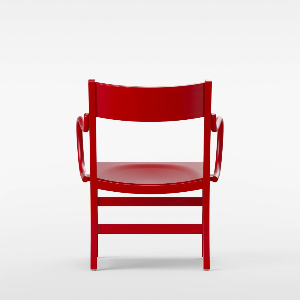 Red Lacquered Beech,Massproductions,Armchairs,chair,furniture,red