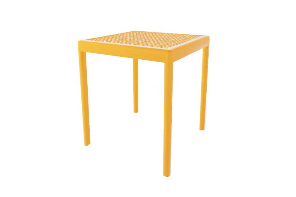00 White,Gaber,Cafe Tables,end table,furniture,outdoor furniture,outdoor table,stool,table,yellow