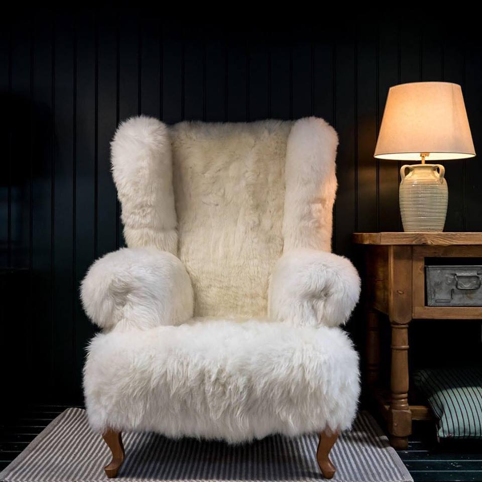 Ivory,Baa Stool,Armchairs,chair,fur,furniture,lighting,room,wool