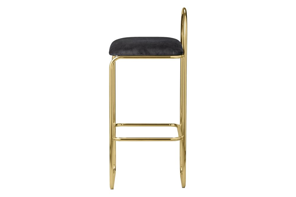 Anthracite/Gold, 92.5cm,AYTM,Stools,bar stool,furniture,stool