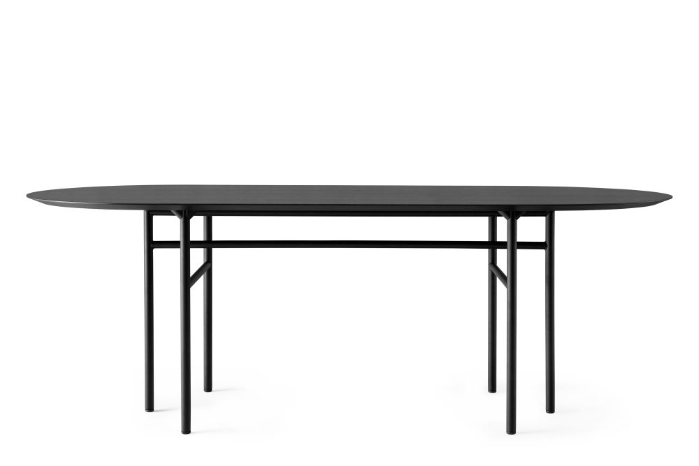 Black Steel Base, Charcoal Forbo Linoleum,MENU,Dining Tables,coffee table,furniture,outdoor table,oval,rectangle,table