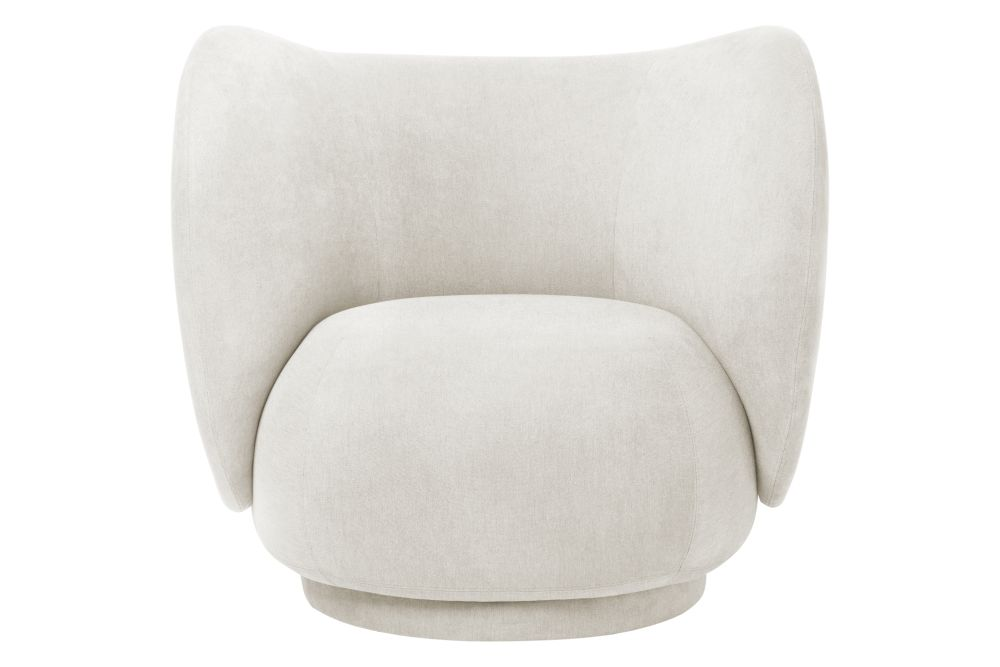 Brushed - Off White,ferm LIVING,Armchairs,beige,chair,club chair,furniture,lighting,white