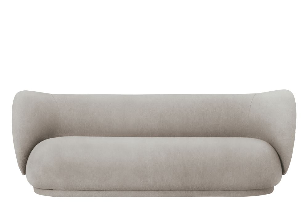 Brushed - Off White,ferm LIVING,Sofas,beige,comfort,couch,furniture,leather,rectangle