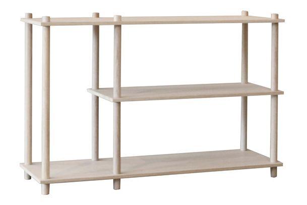 Matt lacquer treated oak veneer,WOUD,Bookcases & Shelves,furniture,product,shelf,shelving,table