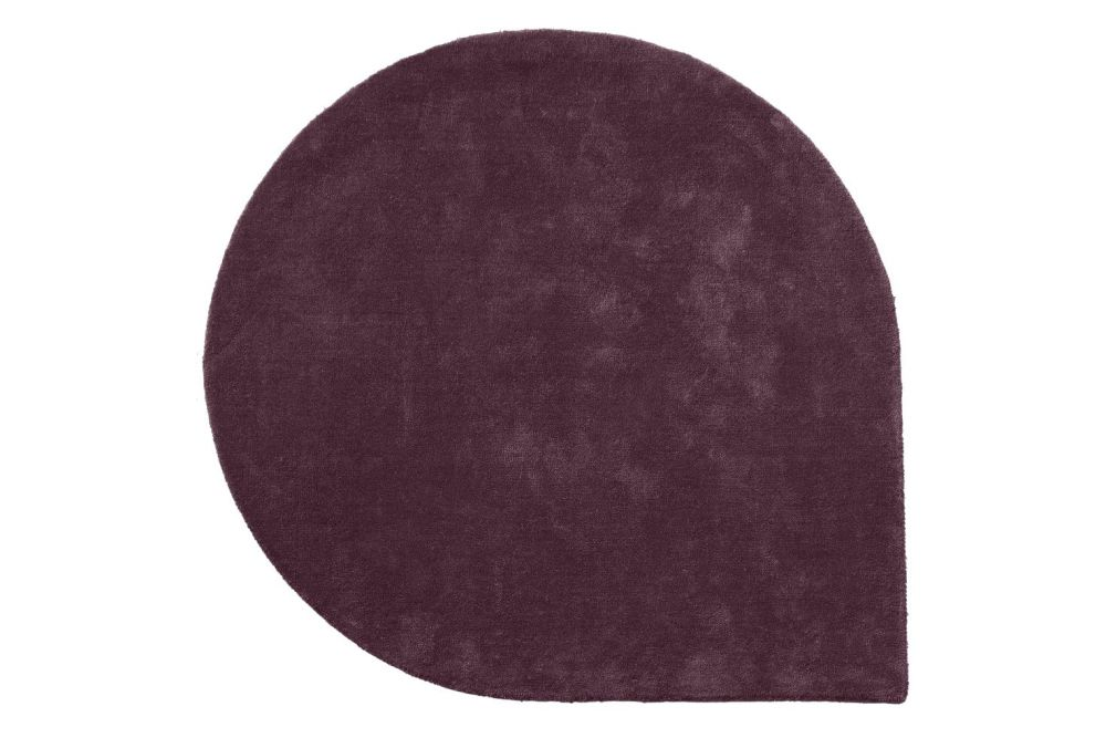 Forest, Small,AYTM,Rugs,leather,maroon,purple,red,rug,suede,violet,wool