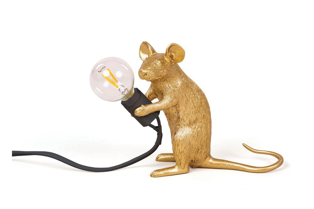 Lying down, White,Seletti,Table Lamps,animal figure,kangaroo,marsupial,mouse,muridae,muroidea,pest,rat,rodent