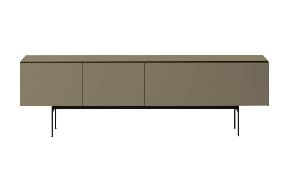 Super-matt Walnut, Texturized Lacquered Bronze, Black RAL9005, 2,Punt,Cabinets & Sideboards,furniture,rectangle,sideboard,table