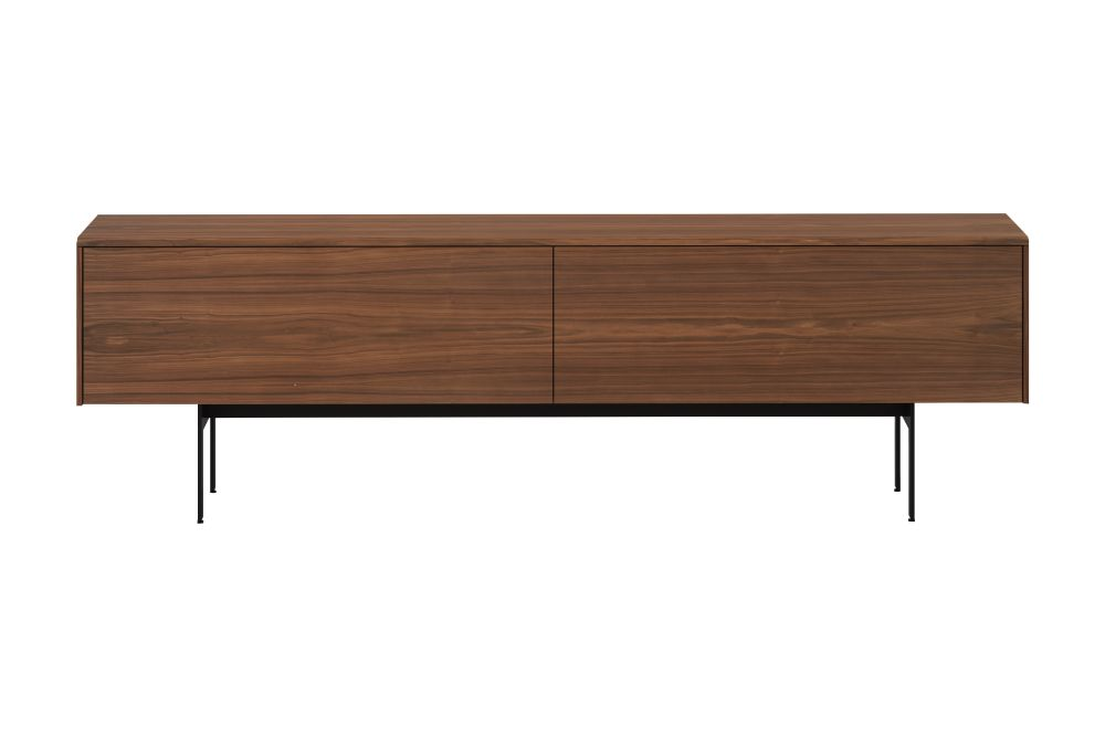 Super-matt Walnut, Black RAL9005,Punt,Cabinets & Sideboards,desk,furniture,rectangle,sideboard,table,wood