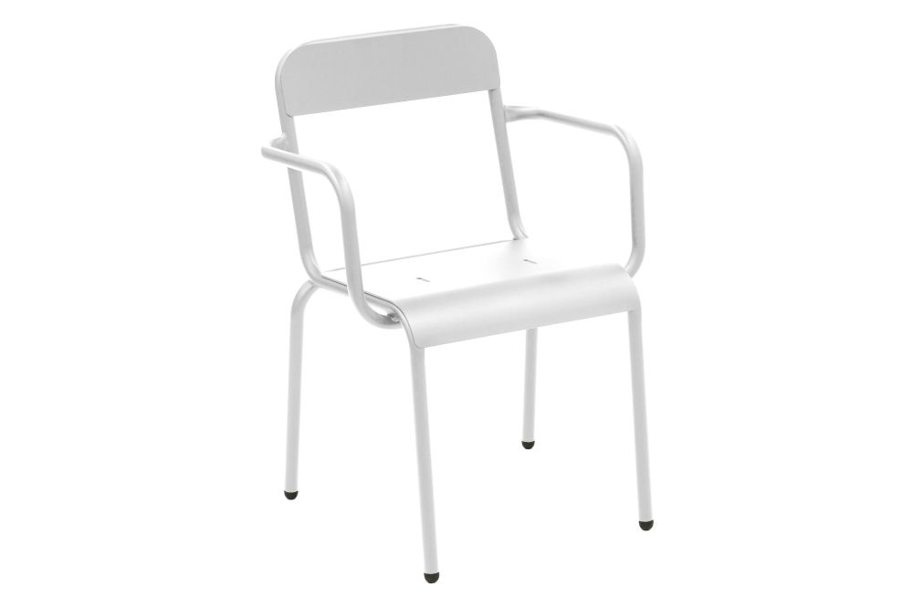 Aluminium Polyester Powder Coated, RAL 9016 Ibiza White,iSiMAR,Armchairs,chair,furniture,white