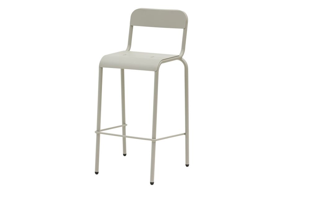 Aluminium Polyester Powder Coated, RAL 9016 Ibiza White,iSiMAR,Stools,bar stool,chair,furniture,stool