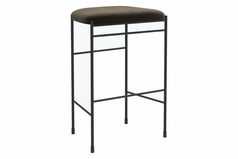 Iron Black, Floyd 163,New Works,Stools,bar stool,furniture,stool,table