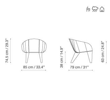 RAL 9016 Ibiza White, Panama 3657 Onyx,iSiMAR,Lounge Chairs,design,diagram,line,text