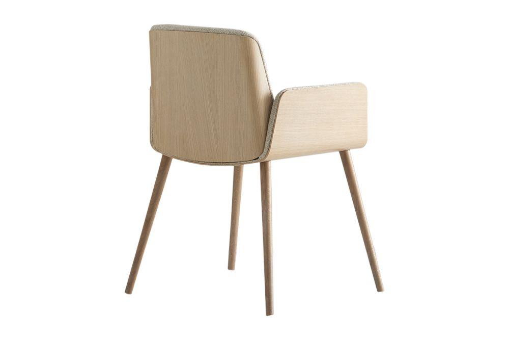 Hug Veneered Exterior Armchair with Wood Legs by Punt