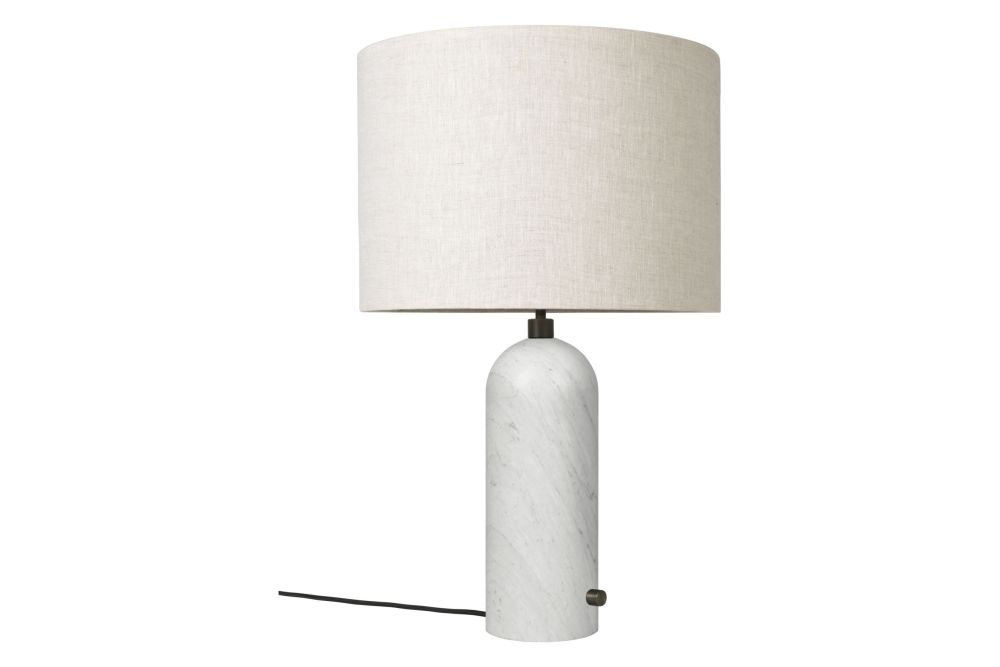 Small, White, Grey Marble,GUBI,Table Lamps,lamp,light fixture,lighting,lighting accessory