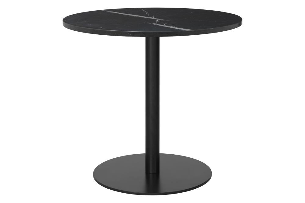 Ø80, Gubi Metal Black, Gubi Marble Bianco Carrara,GUBI,Dining Tables,coffee table,end table,furniture,outdoor table,table