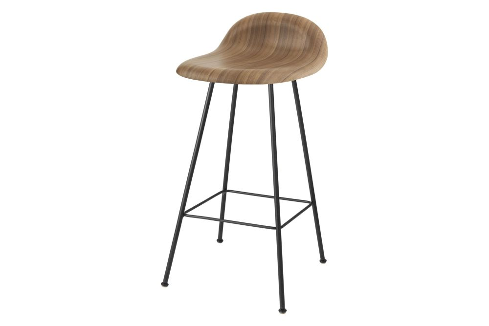 Gubi HiRek Black Semi Matt, Felt Glides,GUBI,Stools,bar stool,beige,furniture,stool,table
