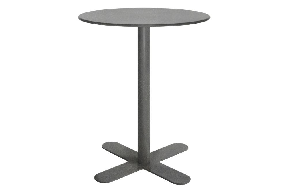 Antibes Round Dining Table with Metal Top Set of 2 by iSiMAR