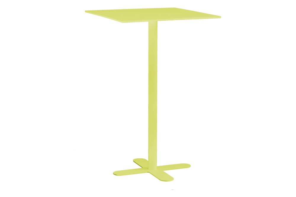 Antibes Square High Table with Metal Top Set of 2 by iSiMAR