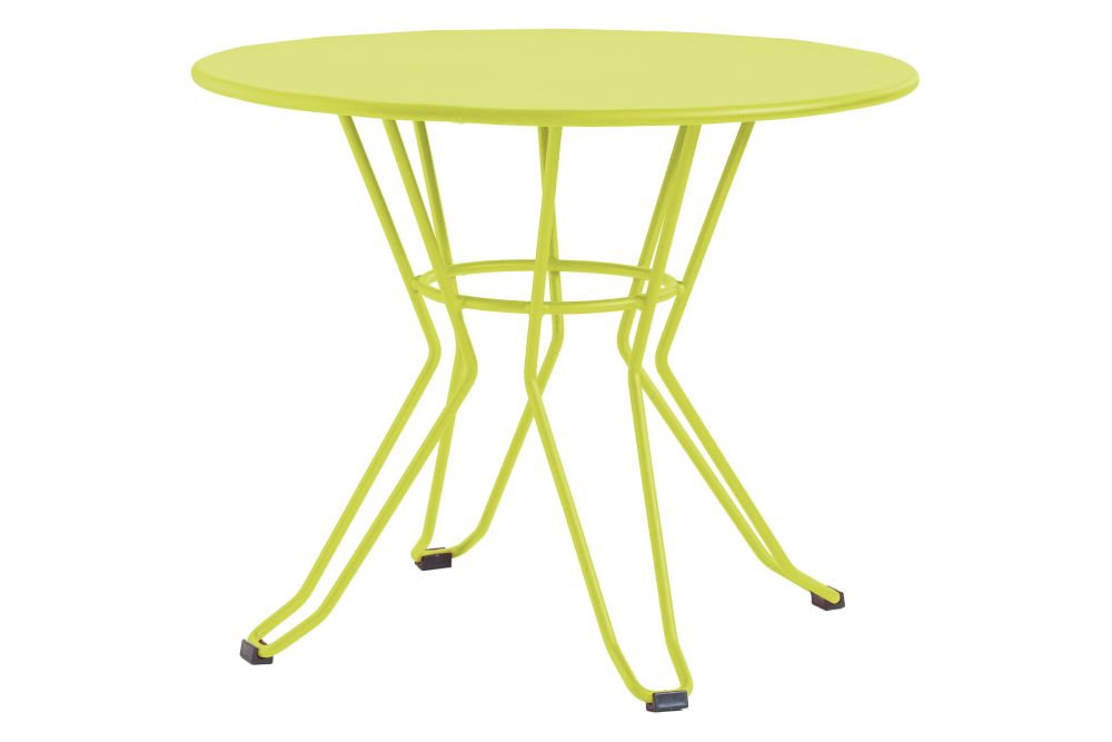 90, RAL 9016 Ibiza White,iSiMAR,Coffee & Side Tables,end table,furniture,outdoor furniture,outdoor table,table,yellow