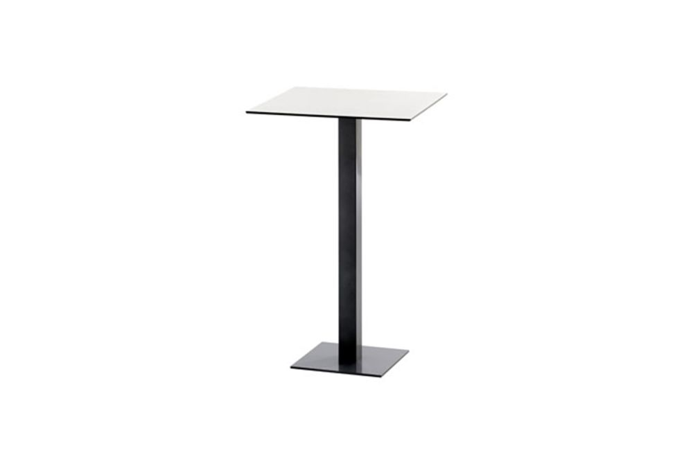 RAL 9016 Ibiza White, Compact Top Black, 80 x 80 x 113,iSiMAR,High Tables,furniture,lamp,lectern,table