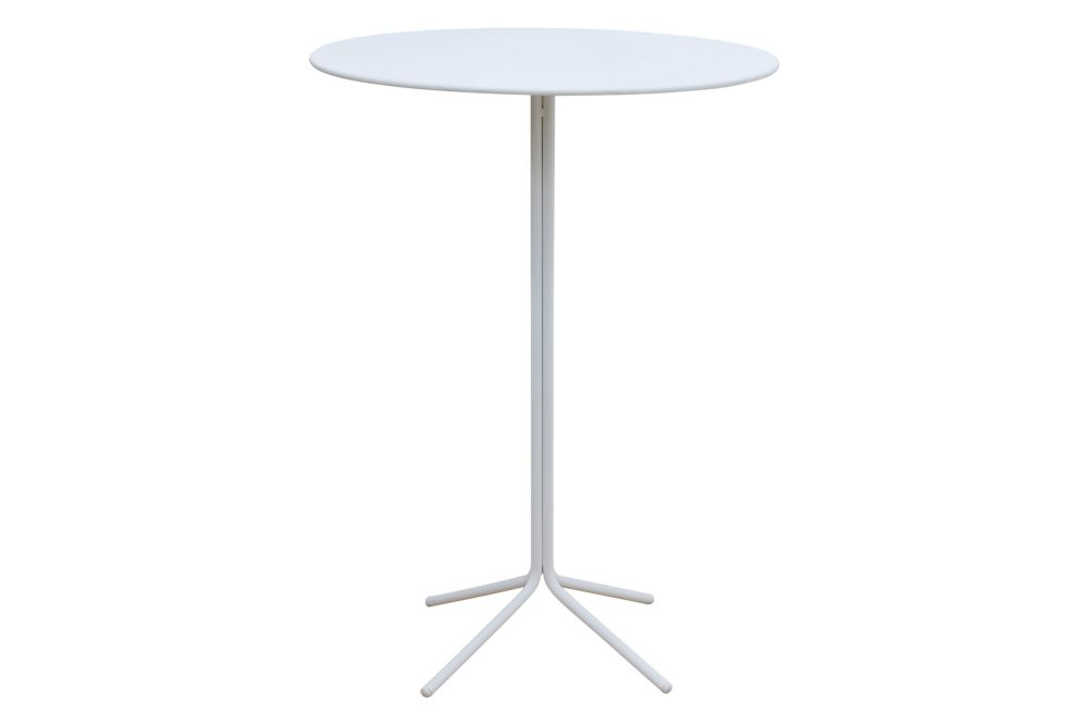 Mikonos Round Table with Metal Top Set of 3 by iSiMAR