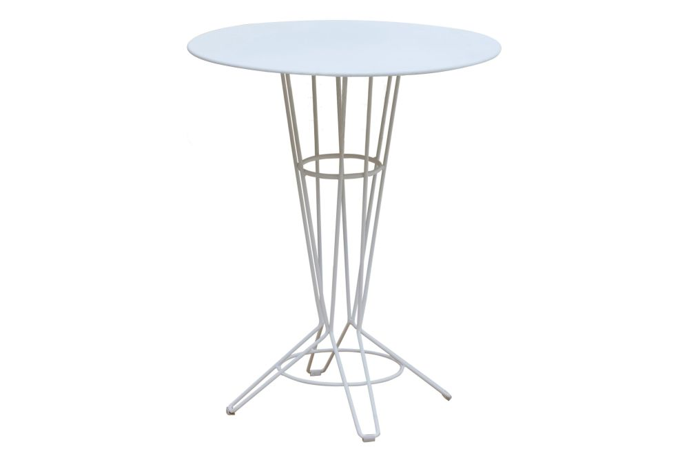 RAL 9016 Ibiza White, 60 x 74,iSiMAR,Dining Tables,end table,furniture,outdoor table,stool,table