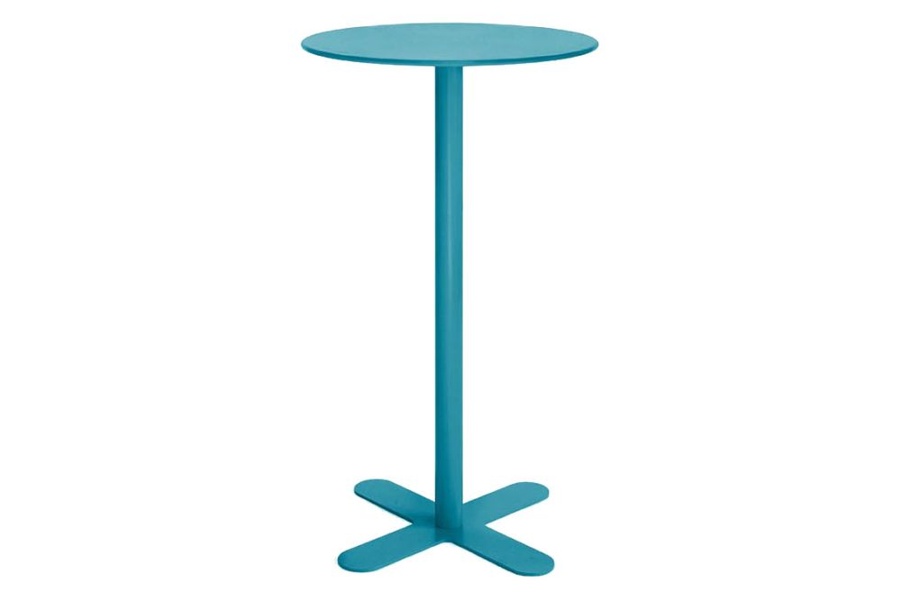 Antibes Round High Table with Metal Top Set of 2 by iSiMAR