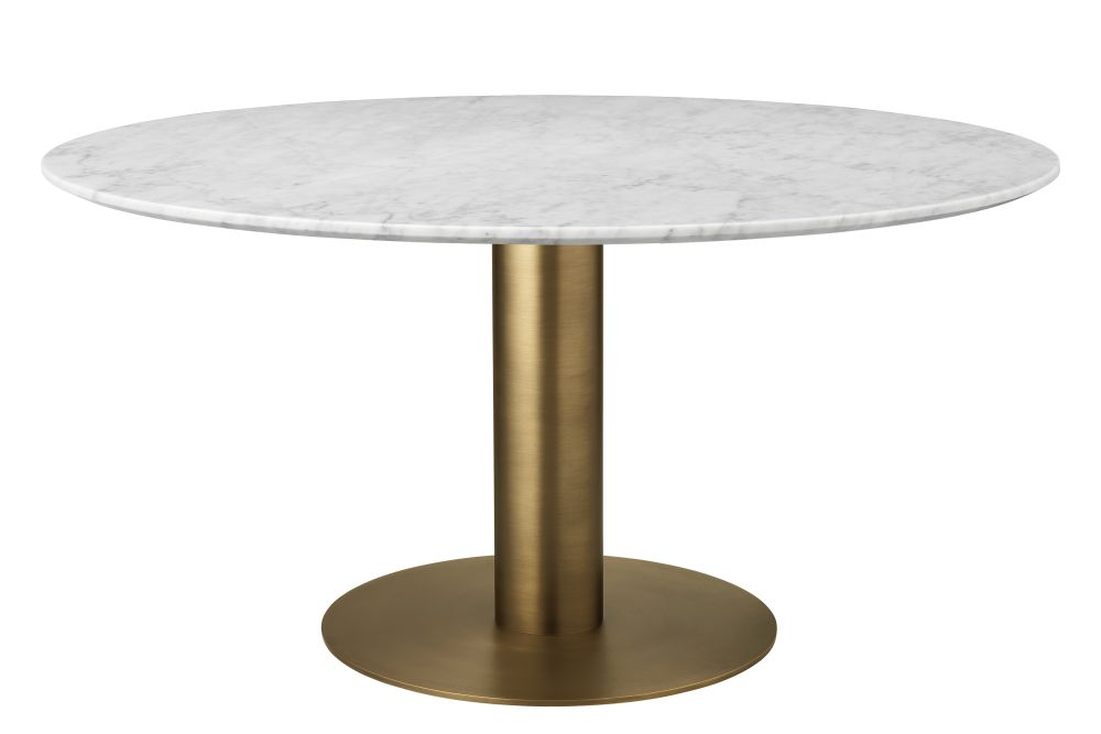 Gubi 2.0 Round Dining Table - Marble by GUBI