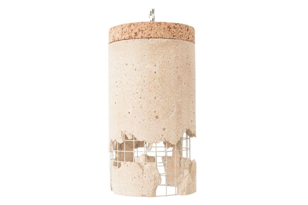 Slash pendant Concrete/White,Ubikubi,Pendant Lights,beige,cylinder,light fixture,lighting