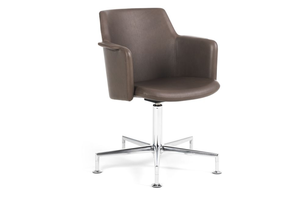 Blazer Aberdeen CUZ87, Black 800 RAL 9005, Chrome,Lammhults,Conference Chairs,chair,furniture,leather,line,material property,product