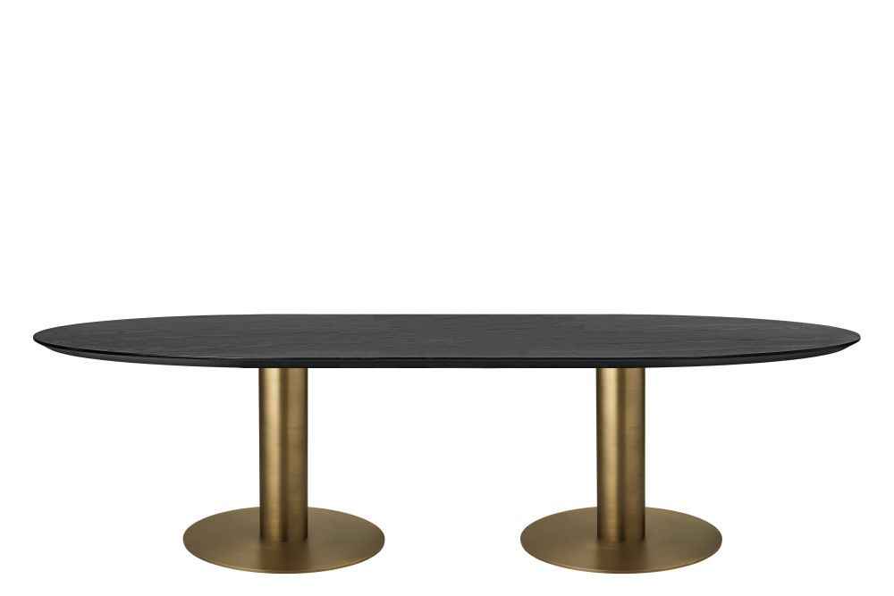 100x200, Gubi Metal Black, Gubi Wood Oak,GUBI,Dining Tables,coffee table,furniture,outdoor table,oval,table