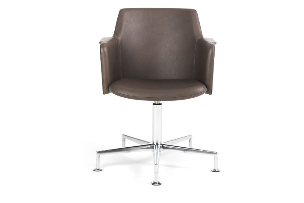 Blazer Aberdeen CUZ87, Polished, Chrome,Lammhults,Conference Chairs,beige,brown,chair,furniture,leather,office chair,product,wood