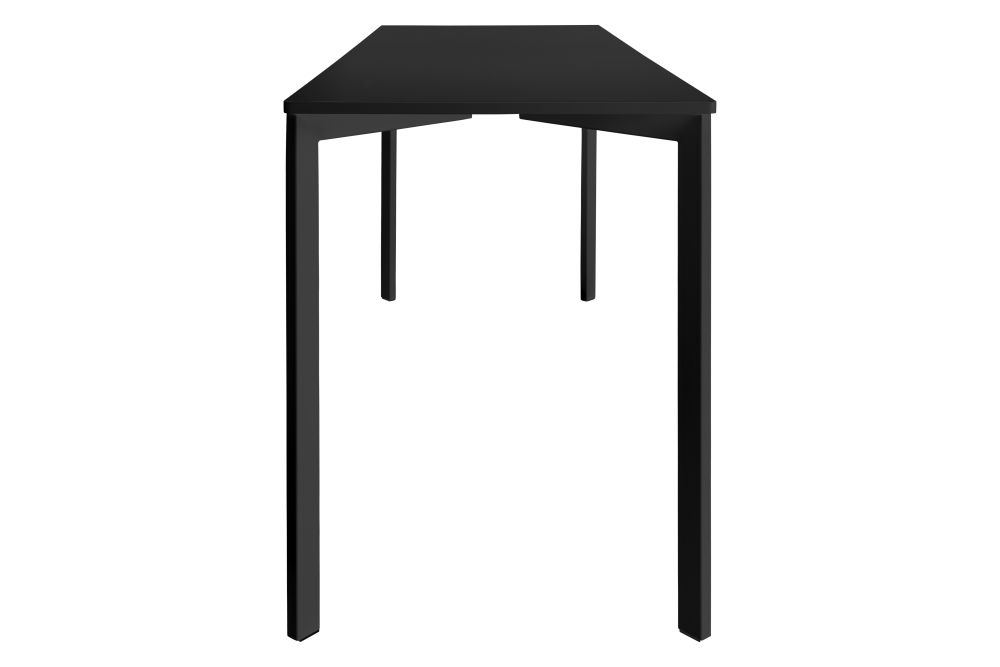Black Nano Laminate Top, Black Matt Base, 70 x 180 cm,GUBI,High Tables,furniture,outdoor table,table
