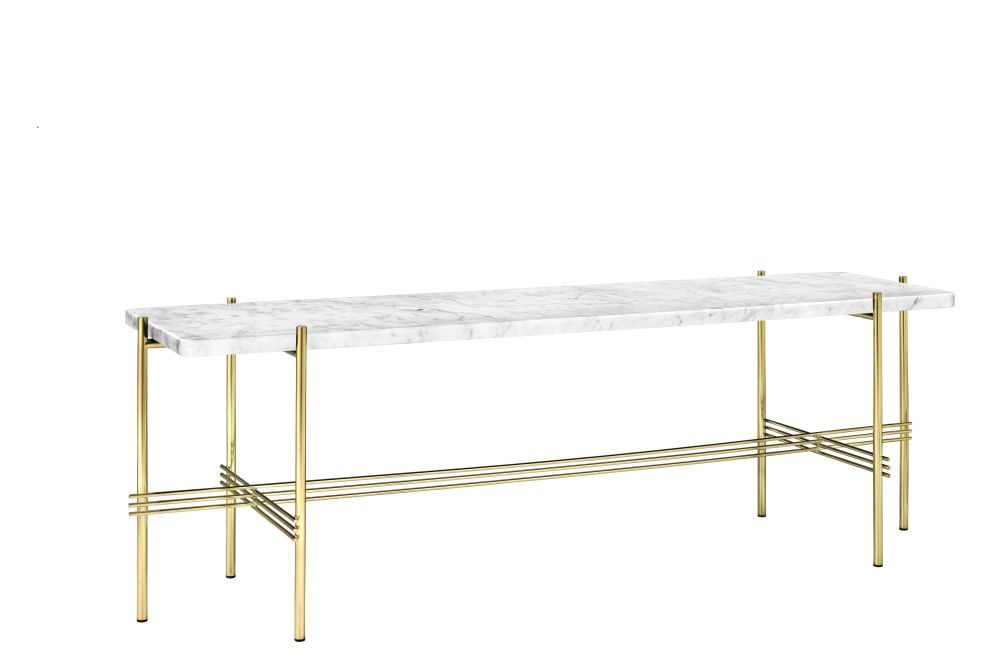 Gubi Marble Bianco Carrara, Gubi Metal Black, 180 x 40,GUBI,Console Tables,furniture,table