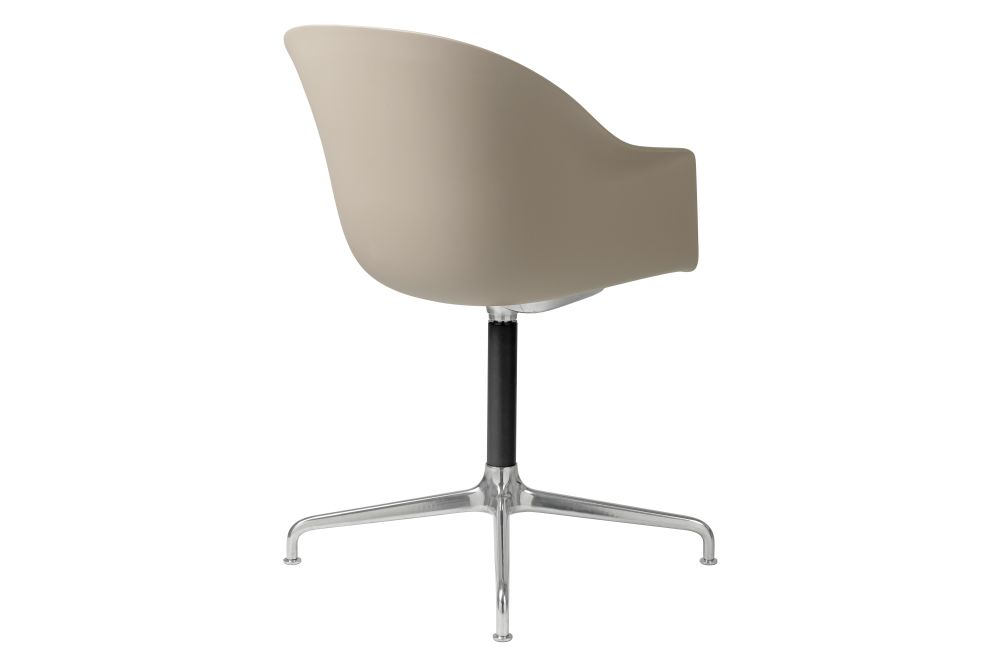 Bat Meeting Chair - Un-Upholstered, 4-Star Base by Gubi