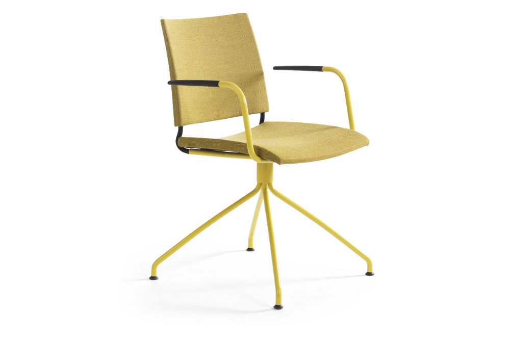 Blazer Aberdeen CUZ87, Yellow 810 RAL 1003-GL,Lammhults,Conference Chairs,armrest,chair,furniture,line,material property