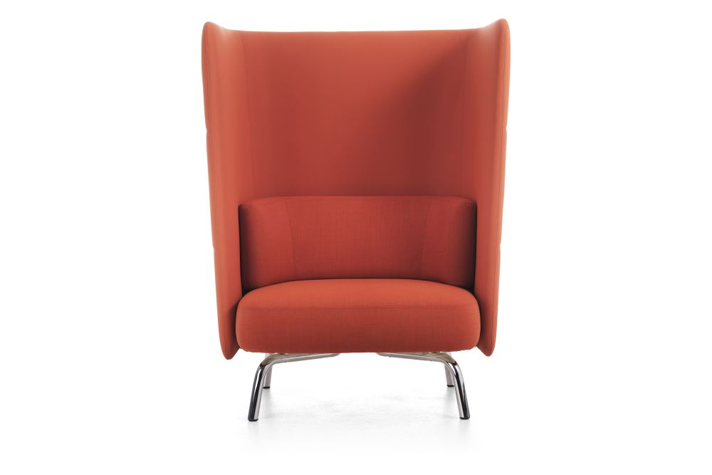 Blazer Aberdeen CUZ87, Chrome, Low Back,Lammhults,Acoustic Furniture,chair,furniture,leather,orange