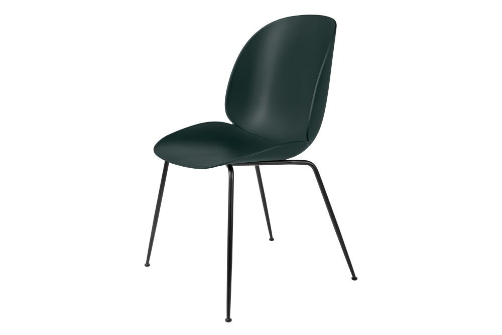Beetle Dining Chair - Un-Upholstered, Conic Base, Set of 4 by Gubi