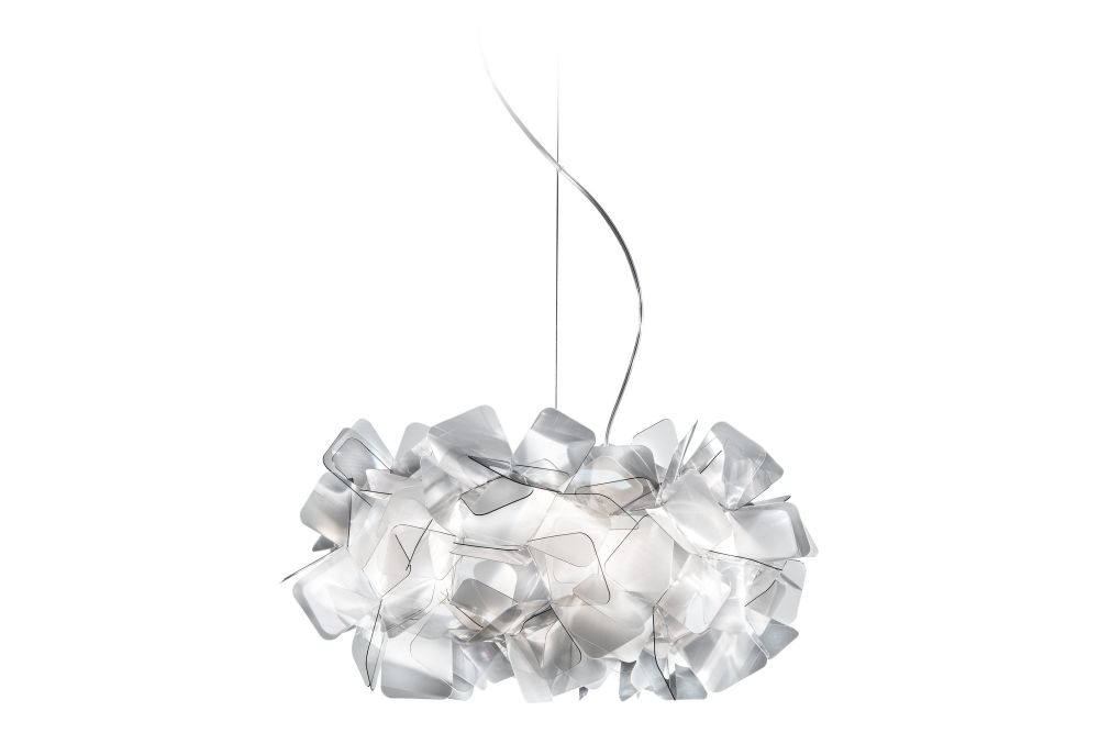 Clizia Fume,Slamp,Pendant Lights,crystal,lighting,silver