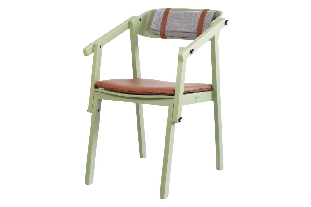 OAK varnished +Wool upholstery,Ubikubi,Armchairs,chair,furniture