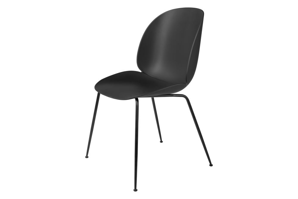 Beetle Dining Chair - Un-Upholstered, Conic Base by Gubi