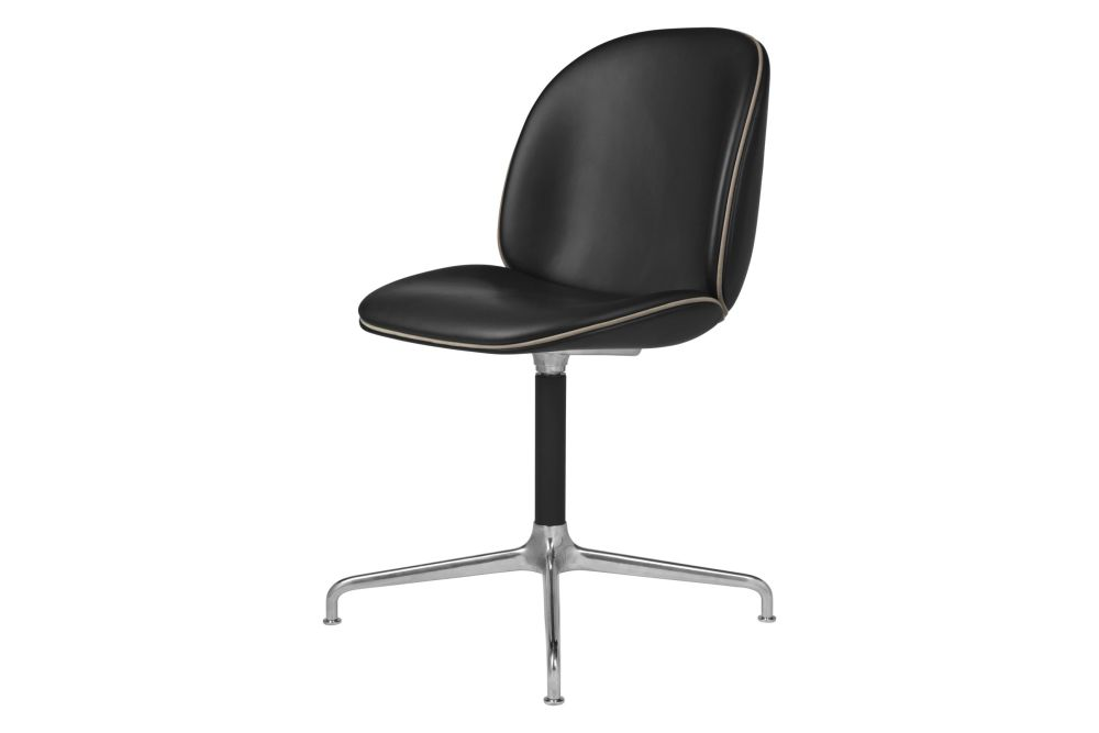 Price Grp. 01, Gubi Metal Black Matt,GUBI,Office Chairs,chair,furniture,leather,line,material property,office chair,product