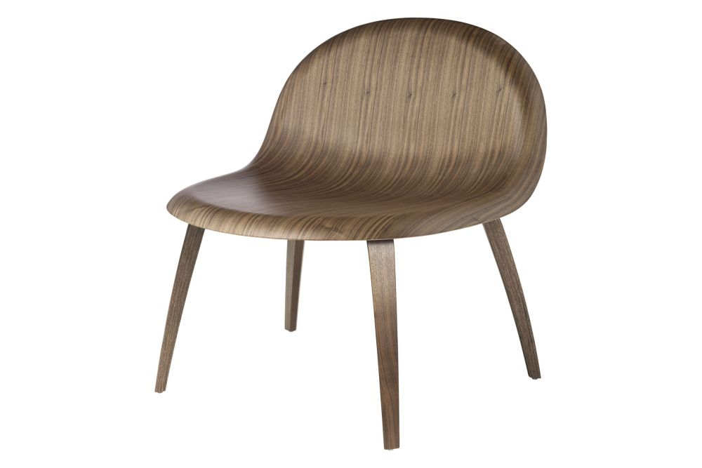 Gubi Wood Oak Glides,GUBI,Lounge Chairs,chair,furniture,plywood,wood